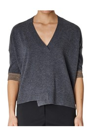 3/4 sleeve v-neck sweater