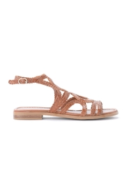 Low sandal in woven leather