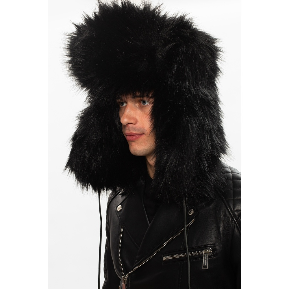 Black Synthetic fur hat | Dsquared2 | Mössor | Nyaste Herrtillbehör xq8It