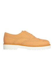 women's classic leather lace up laced formal shoes brogue h259