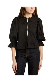 Piano cotton 3/4 sleeves blouse