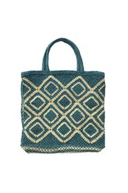 Ingrid Jute Shopper - Blue, Natural