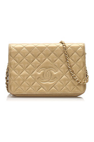 CC Timeless Lambskin Leather Wallet On Chain