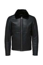Leather jacket Shearling