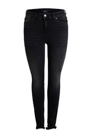 Zwarte PCFIVE DELLY skinny jeans Pieces