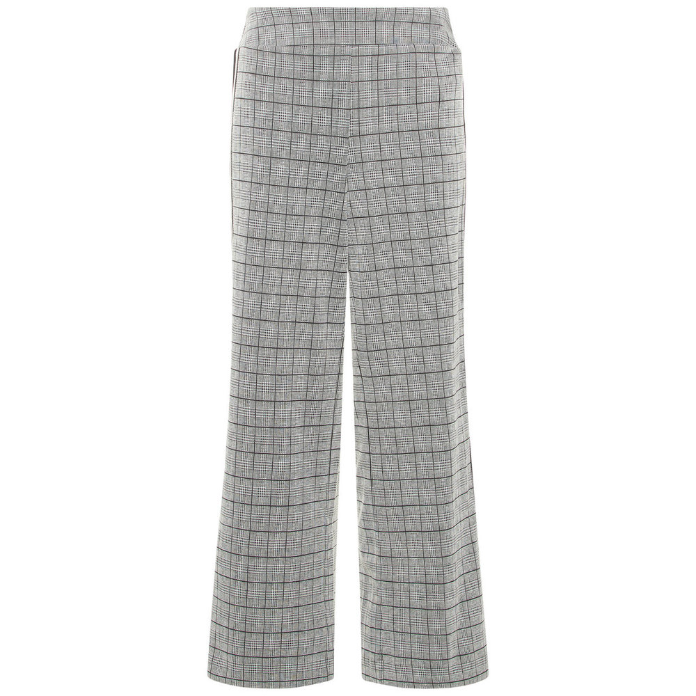 Wide-leg trousers checked