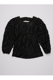 Lucy Puff Sleeve Black Leopard Top