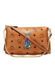 Visetos Rabbit Leather Crossbody Bag