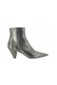 Elena Iachi pointy cowboy style leather ankle boots - E1659