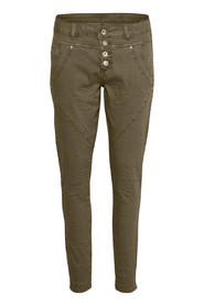 Cream 10603913 Stine Twill pants-Bailey fit Crocodile green