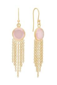 Estelle øreringe rosa chalcedon