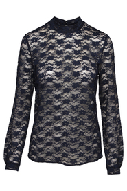 Diva Lace Blouse, Navy Blue (100% Organic)