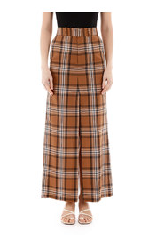 Checkered pant skirt