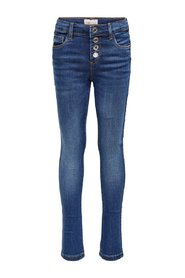 Skinny fit jeans button