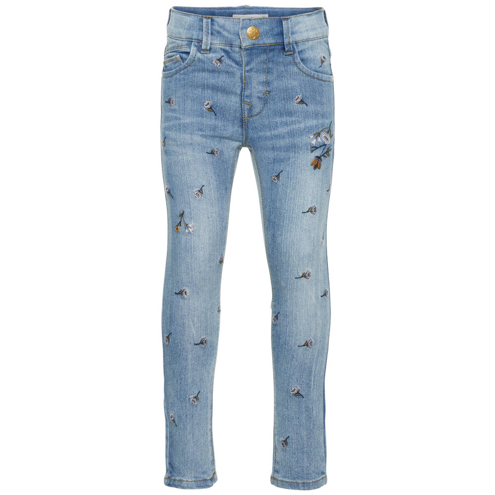 Jeans skinny fit floral embroidered