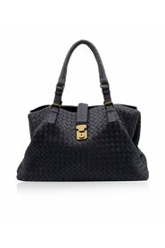 Pre-owned Woven Leather Roma Tote Bag