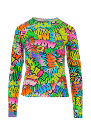 Printed Stretch Jersey Top
