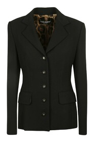 Single-Breasted Jacket With DG Buttons