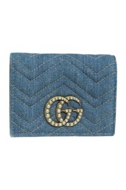 Marmont Matelasse Denim Small Wallet