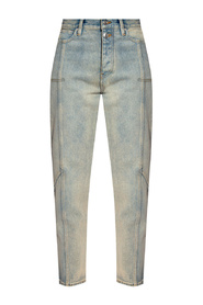 Jeans with stitching details
