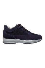 Interactive suede trainers sneakers