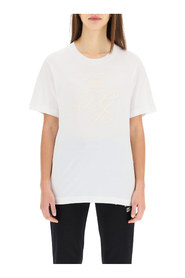 Logo embroidery T - shirt