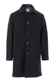 Coat Button closure Collar Long sleeves Two internal side pockets