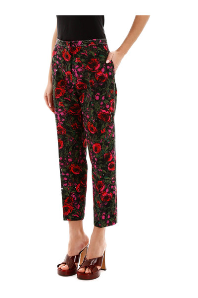 Marni Red Amarcord Print Trousers Pantalons - Rood