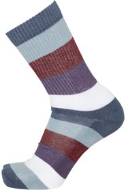 Pack of 2 pairs of navy striped organic cotton socks - LINDEN