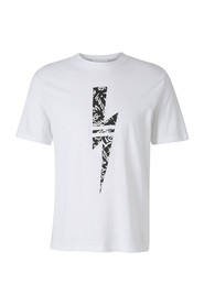 Short sleeve t-shirt crew neckline jumper graffiti thunderbolt