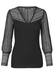 Silk T-Shirt V-neck regular long sleeve