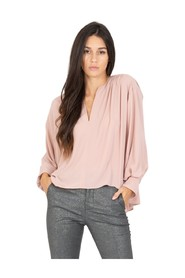 Wide pearl pink blouse
