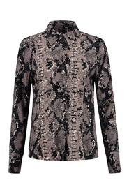 Fifth House Blouse Ramone petite Reptile taupe