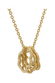 9kt yellow gold chain 41-43-45 cm and mini trio cloud pendants