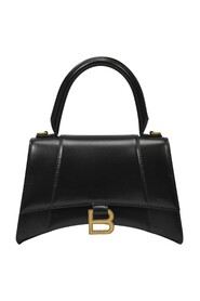 Hourglass Top Handle Bag in Shiny Leather