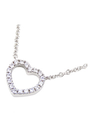 18K Metro Heart Diamond Necklace Metal 18K