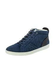 brukte Suede And Leather Fuselage High Top Sneakers