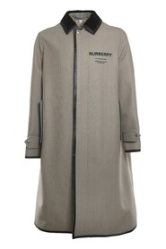 Technical Coat With Contrasting Logo Print