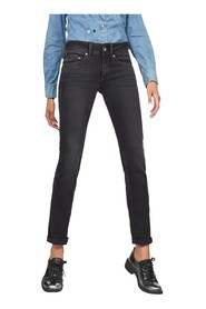 G-STAR D07145 B742 MIDGE MID STRAIGHT JEANS Women DENIM BLACK