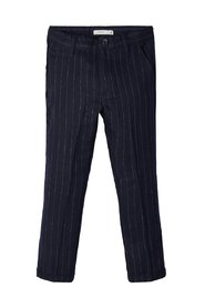 Suit trousers cropped pinstriped