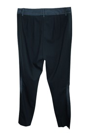 Black Tailored Pants with Side Panels