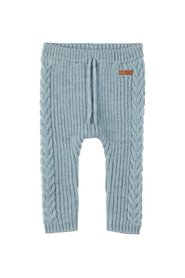 Trousers merino wool cable knit