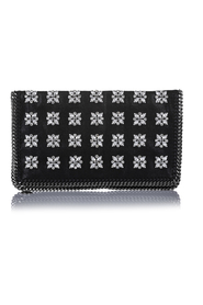 Crystal Embellished Falabella Fold Over Clutch