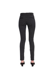 SLIM FIT PINSTRIPED TROUSERS