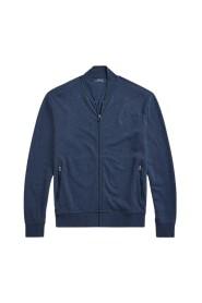 Zipped bomber sweatshirt