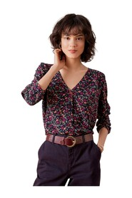Sia Floral Blouse in Soubois Rust