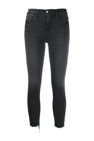 LE HIGH SKINNY CROP RAW EDGE jeans