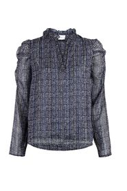 Lesley Dotted Line Blouse