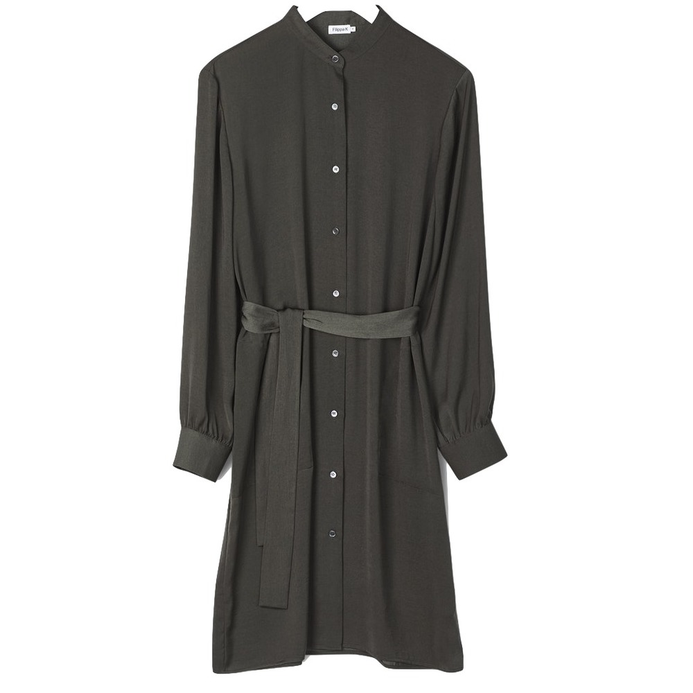 Filippa K easy Shirt Dress Beluga  Green