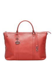 GG Charm Leather Tote Bag